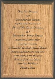 engraved wedding anouncement